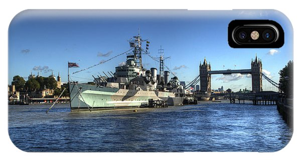iPhone Case - The Tower Hms Belfast And Tower Bridge by Chris Day