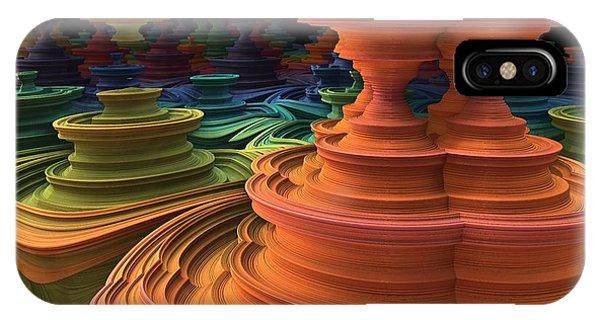 Fractal Landscape iPhone Case - The Towers Of Zebkar by Lyle Hatch