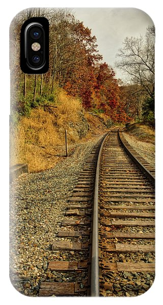 IPhone Case featuring the photograph The Tracks In The Fall by Mark Dodd