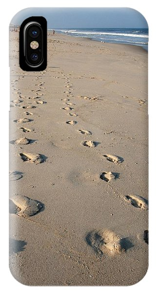 The Trails Of Footprints - Jersey Shore IPhone Case