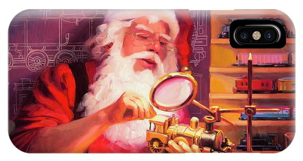 Santa Claus iPhone Case - The Trainmaster by Steve Henderson