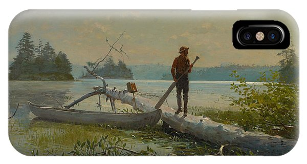Homer iPhone Case - The Trapper by Winslow Homer