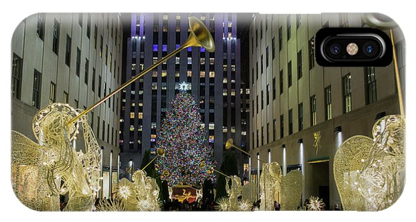 The Tree At Rockefeller Plaza IPhone Case