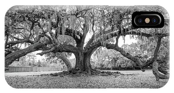 Steve Harrington iPhone Case - The Tree Of Life Monochrome by Steve Harrington