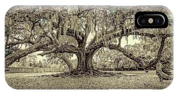 Steve Harrington iPhone Case - The Tree Of Life Sepia by Steve Harrington
