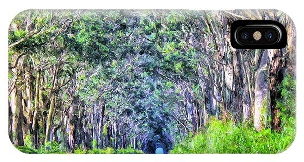 The Tree Tunnel On Maluhia Road Kauai IPhone Case