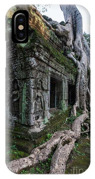 Cambodia iPhone Case - The Tree Wins by Mike Reid