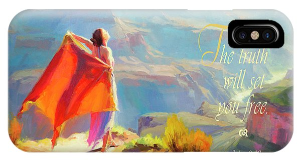 Worship iPhone Case - The Truth Will Set You Free by Steve Henderson