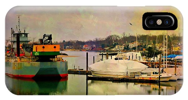 Stamford iPhone Case - The Tug Boat by Diana Angstadt