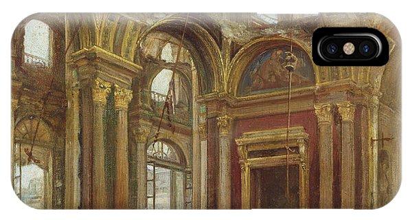 Damage iPhone Case - The Tuileries After The Paris Commune by Alexandre Marre-Lebrett