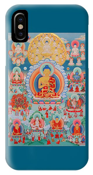 The Twelve Primordial Teachers Of Dzogchen - Tonpa Chu Ni IPhone Case