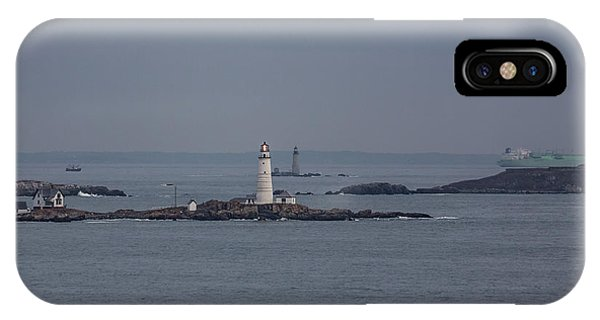 The Two Harbor Lighthouses IPhone Case