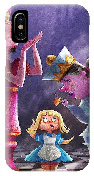Fairy iPhone Case - The Two Queens, Nursery Art by Kristina Vardazaryan