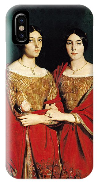 Adele iPhone Case - The Two Sisters by Theodore Chasseriau
