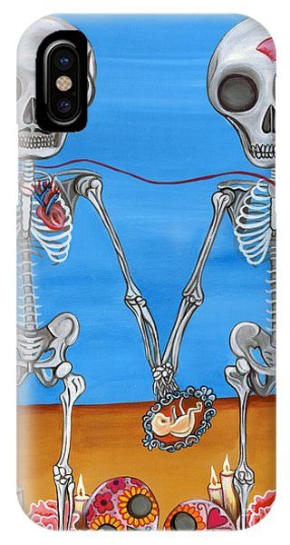 The Two Skeletons IPhone Case