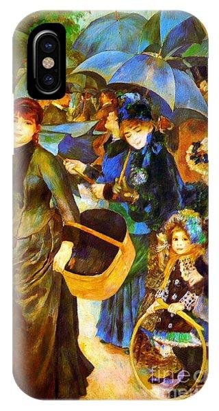 The Umbrellas By Renoir IPhone Case