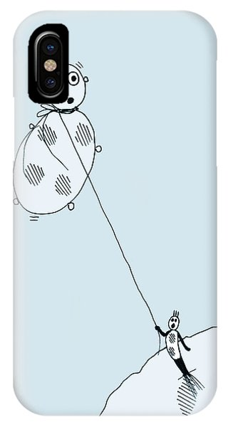 IPhone Case featuring the drawing The Unexpected Consequences Of Inhaling Helium by Keith A Link