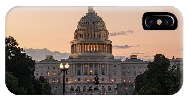 The United States Capitol At Sunrise IPhone Case