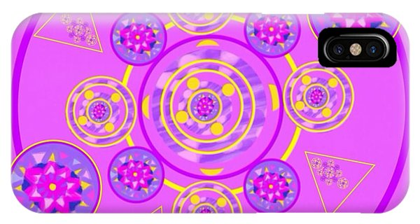 The Art Of Gandy iPhone Case - The Universal Spin Of Violet by Joan Ellen Gandy