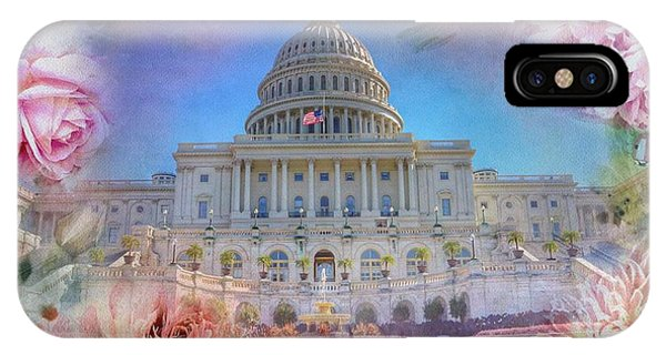 Capitol Building iPhone Case - The Us Capitol Building At Spring by Marianna Mills