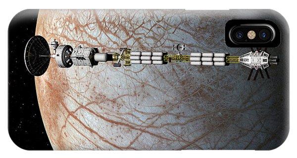 The Uss Savannah In Orbit Around Europa IPhone Case
