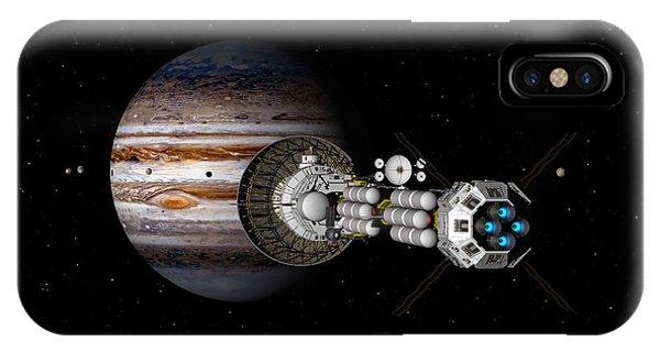 The Uss Savannah Nearing Jupiter IPhone Case