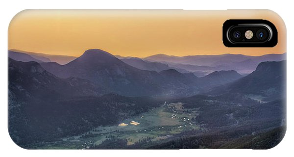 Rocky Mountain Np iPhone Case - The Valley Below - Rocky Mountain National Park by Nikolyn McDonald