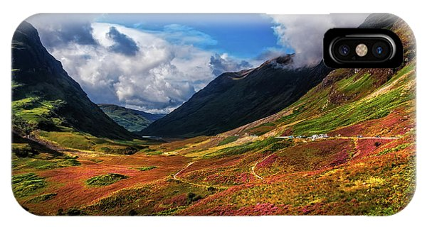 The Valley Of Three Sisters. Glencoe. Scotland IPhone Case