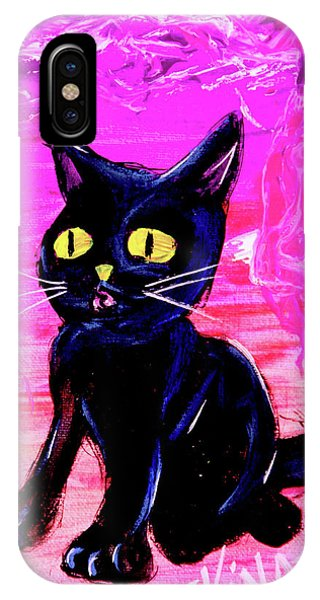 IPhone Case featuring the painting The Vampire Cat Baby Lestat by eVol i