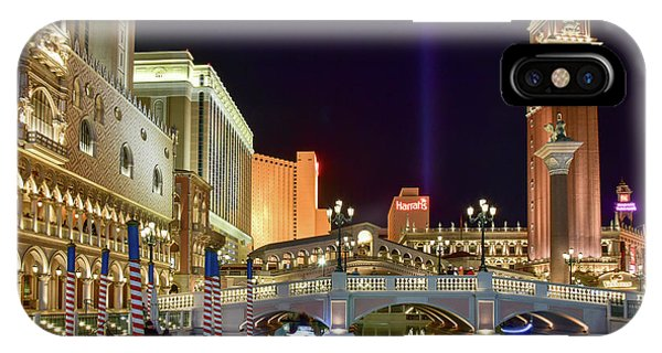 The Venetian Gondolas At Night IPhone Case