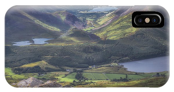 The View From Atop Snowdon IPhone Case