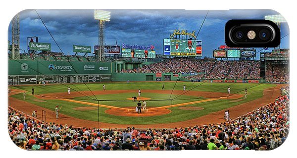 The View From Behind Home Plate - Fenway Park IPhone Case