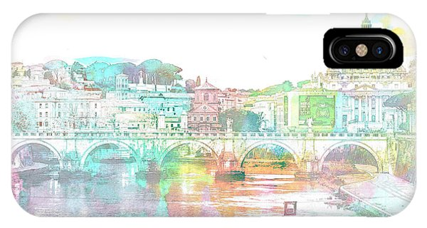 The View From Castel Sant'angelo Towards Ponte Sant'angelo, Brid IPhone Case