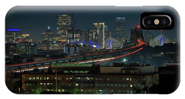 Zakim Bridge iPhone Case - The View From Chelsea by Rick Berk
