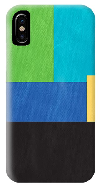 Square iPhone Case - The View From Here- Modern Abstract by Linda Woods
