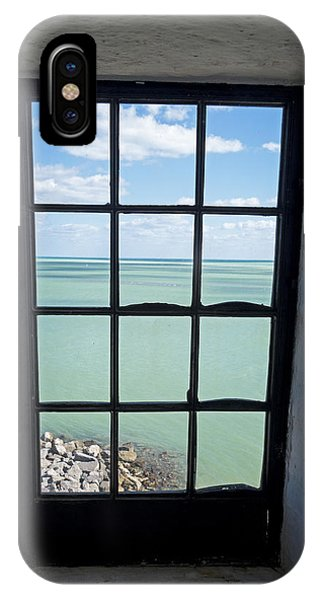 The View From The Lighthouse Window Bill Baggs Lighthouse Key Biscayne Florida IPhone Case