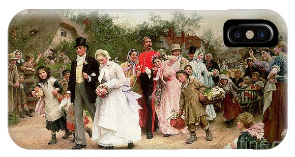 Bridal iPhone Case - The Village Wedding by Sir Samuel Luke Fildes