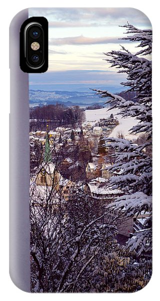 The Village - Winter In Switzerland IPhone Case
