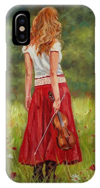 The Violinist IPhone Case