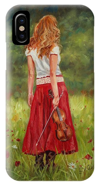 Music iPhone Case - The Violinist by David Stribbling