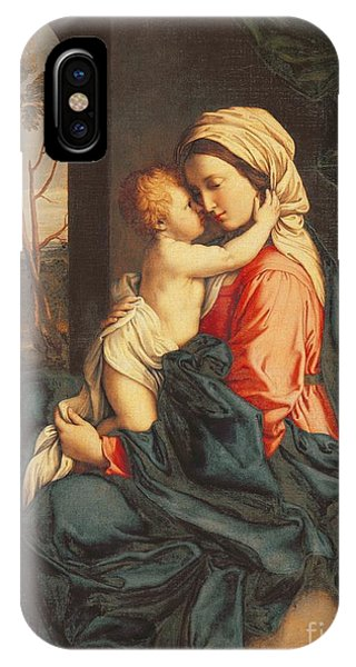 Child iPhone Case - The Virgin And Child Embracing by Giovanni Battista Salvi