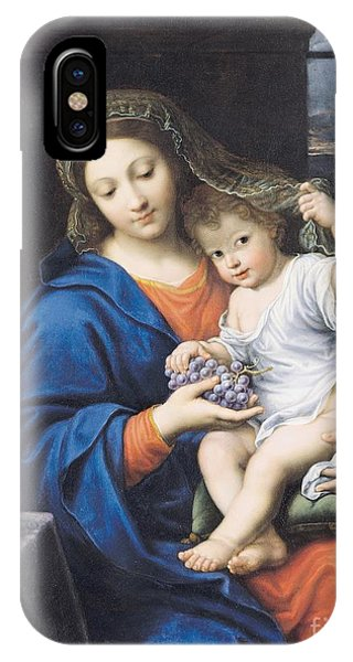 Life Of Christ iPhone Case - The Virgin Of The Grapes by Pierre Mignard