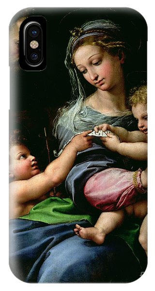 Raphael iPhone Case - The Virgin Of The Rose by Raphael