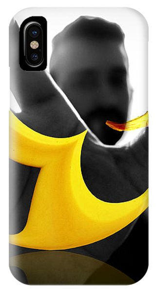 IPhone Case featuring the digital art The Virtual Reality Banana by ISAW Company
