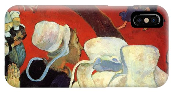 The Vision After The Sermon Jacob Wrestling With The Angel 1888 IPhone Case