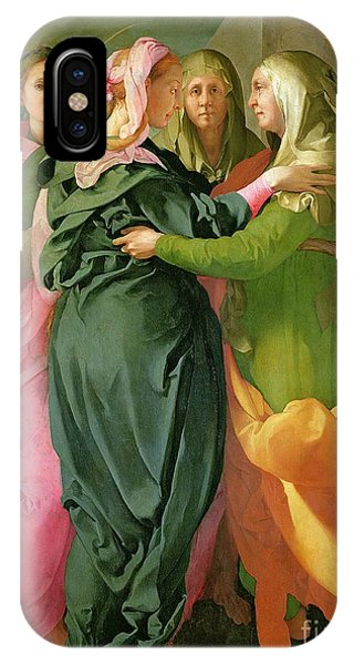 Mary Mother Of God iPhone Case - The Visitation by Jacopo Pontormo