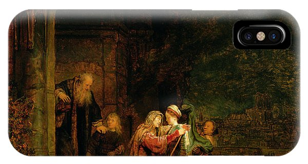 Columns iPhone Case - The Visitation by  Rembrandt Harmensz van Rijn