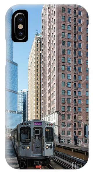 The Wabash L Train At Eye Level IPhone Case