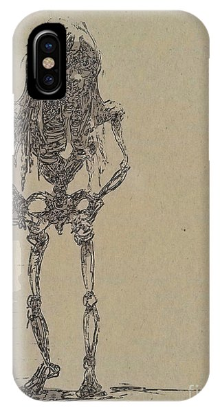 IPhone Case featuring the drawing The Walking Dead by Reed Novotny