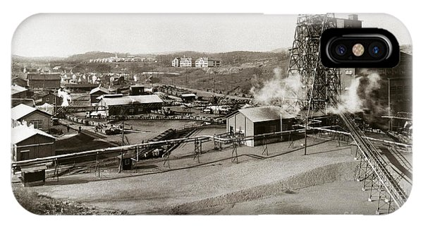 The Wanamie Colliery Lehigh And Wilkes Barre Coal Co Wanamie Pa Early 1900s IPhone Case